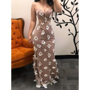 VALENTINA STRAPLESS LONG DRESS