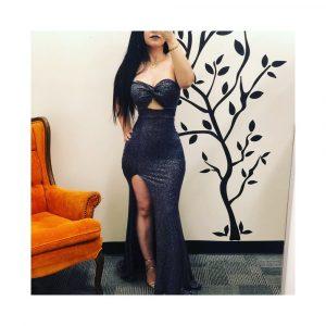 KAROLINE STRAPLESS LONG DRESS