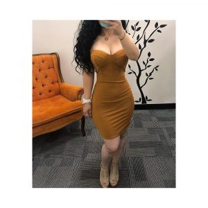 STRAP TOP BRA SHORT DRESS
